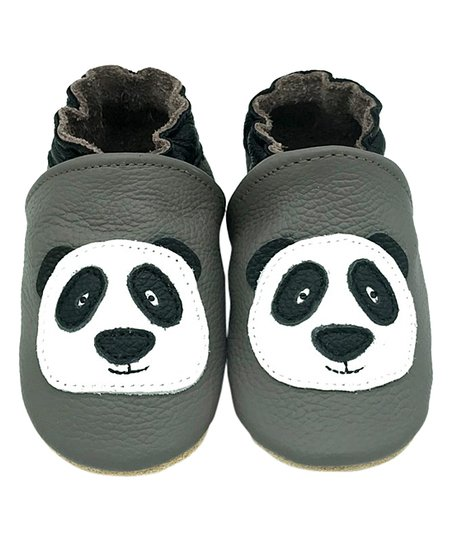 ca07d67eaaae52 love this product Gray   White Panda Soft-Sole Leather Bootie - Boys