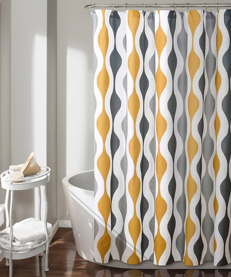 Love This Product Gold Gray Geometric Shower Curtain