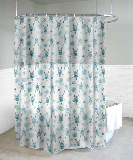 Love This Product Mint Sea Turtles Shower Curtain