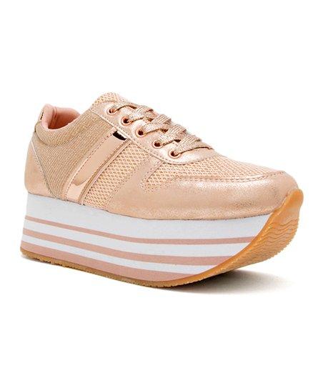 702fb53482e love this product Rose Gold Skywalk Platform Sneaker - Women