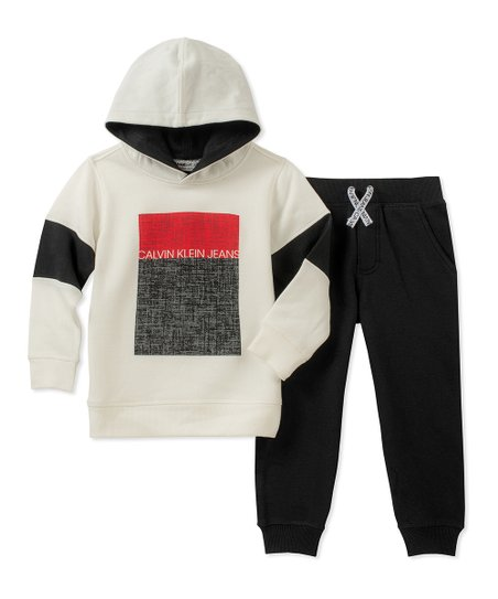 Calvin Klein Jeans White   Red Hoodie   Black Sweatpants - Infant ... 68119e2ce