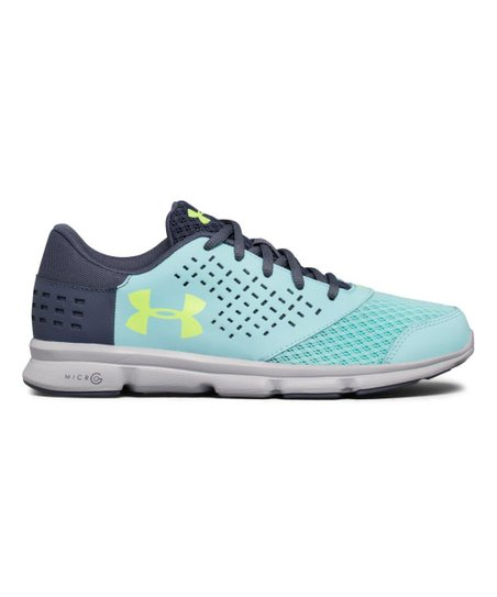 99bc4894 Under Armour® Blue Infinity UA Grade School UA Micro G® Rave Running Shoe -  Girls