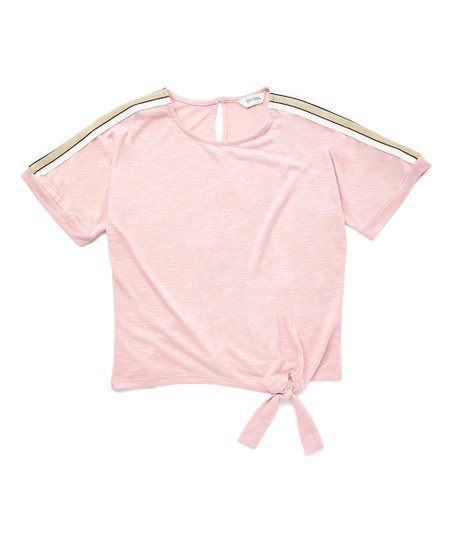 ecdac4d8b Speechless Pink Side-Tie Short-Sleeve Top - Girls | Zulily