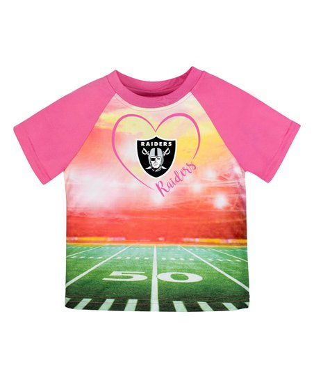 9fe8b6f23 Gerber Childrenswear Oakland Raiders Pink Field Tee - Toddler   Zulily