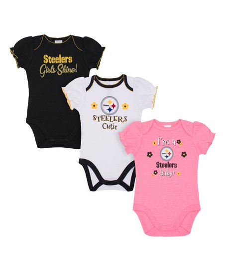 love this product Pittsburgh Steelers Pink   White Bodysuit Set - Infant 5c1eda4cb