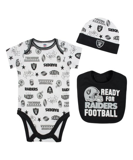 2772e081a Gerber Childrenswear Oakland Raiders Bodysuit Set - Infant   Zulily