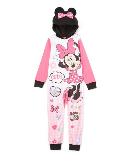 431280589 love this product Pink & White Minnie Mouse Onesie - Girls