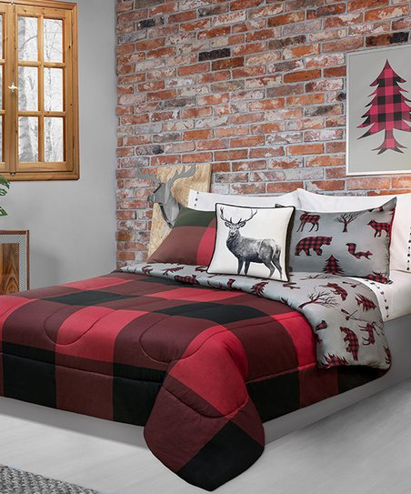 Safdie Co Inc Red Buffalo Plaid Reversible Comforter Set Best Price And Reviews Zulily