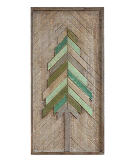 Wooden Christmas Tree Wall Art