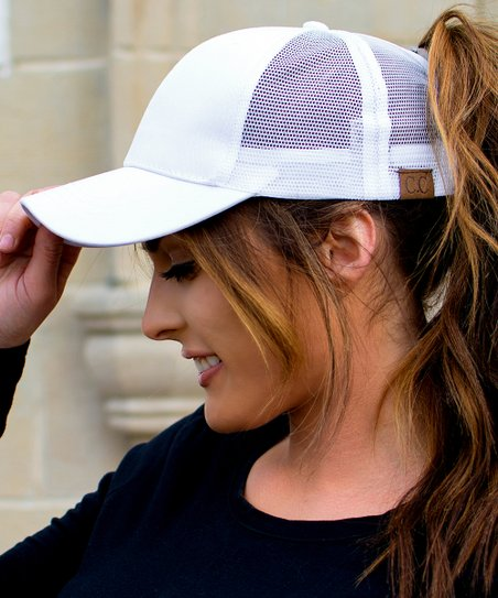 eb391af5520 love this product White Top Knot Trucker Hat