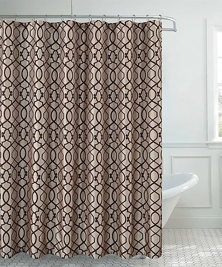 Love This Product Taupe Coffee Siri Shower Curtain