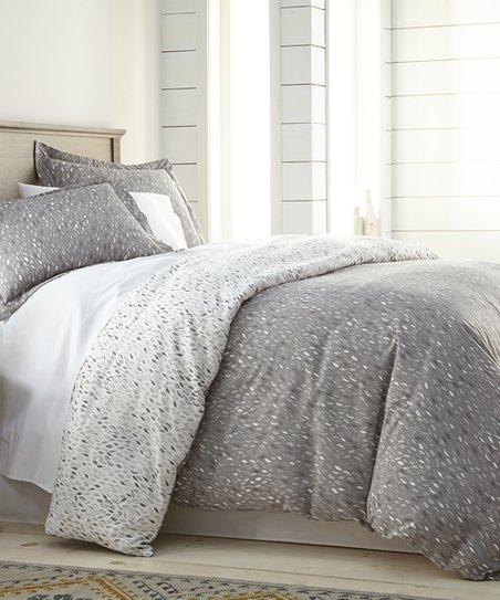 Southshore Fine Linens Gray Leaf Print Duvet Cover Set Zulily
