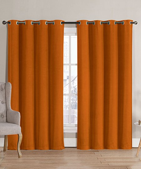 Love This Product Orange Hotel Thermal Blackout Curtain Panel Set Of Two