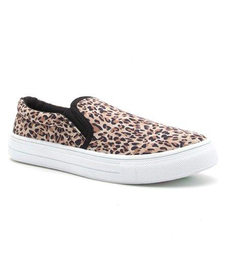 Qupid Leopard Reba Slip-On Sneaker