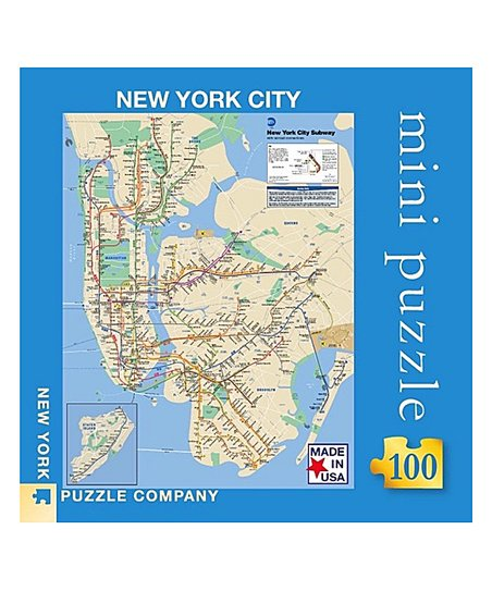 New York City Navigating Subway Map.New York Puzzle Company Mta Subway Map 100 Piece Mini Puzzle
