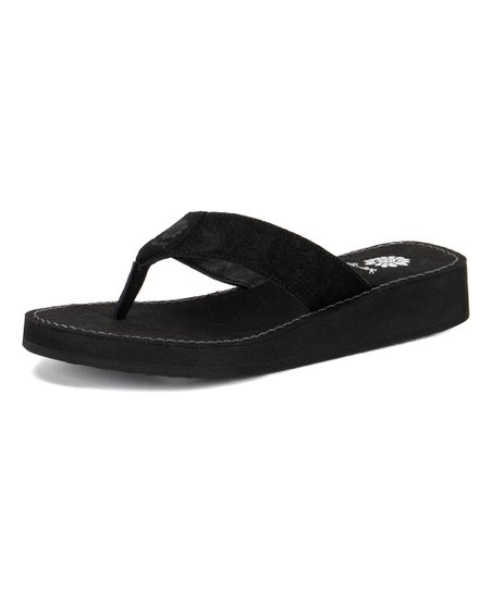 1cfaded81 Yellow Box Shoes Black Rinni Leather Sandal - Women