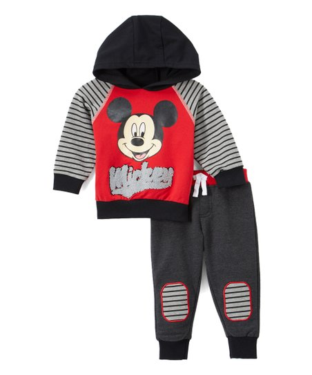 Childrens Apparel Network Mickey Mouse Red Mickey Hoodie Black