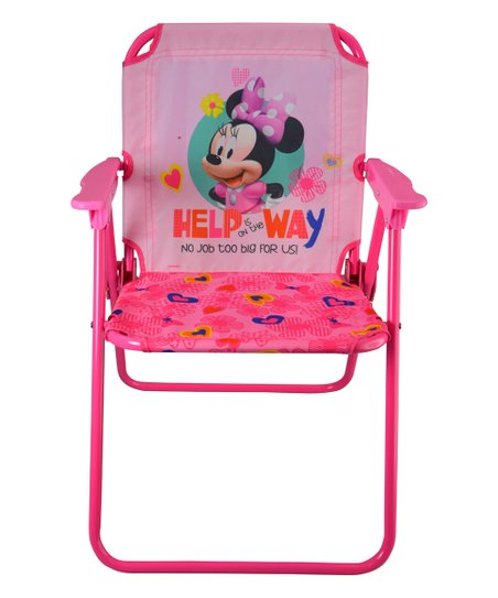Phenomenal Upd Minnie Mouse Patio Canvas Chair Customarchery Wood Chair Design Ideas Customarcherynet