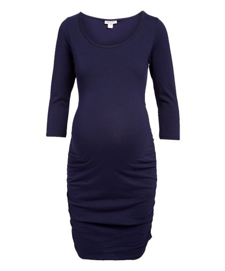 love this product Navy Side-Ruched Maternity T-Shirt Dress 6f1894a06