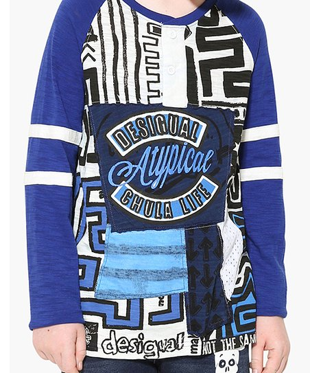 exquisite design best cheap best authentic Desigual Blue Atypical Long-Sleeve Tee - Boys | Zulily