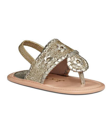 538c3dc706e7c5 love this product Platinum-Sparkle Baby Jacks Leather Sandal - Girls
