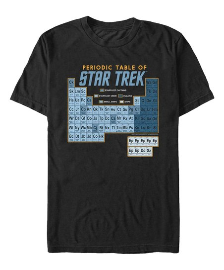 e493b81dd Fifth Sun Star Trek TOS Black & Blue Periodic Table Tee - Men | Zulily