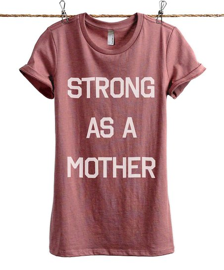 13b89f14 Thread Tank Heather Rouge Strong As A Mother Tee | Zulily