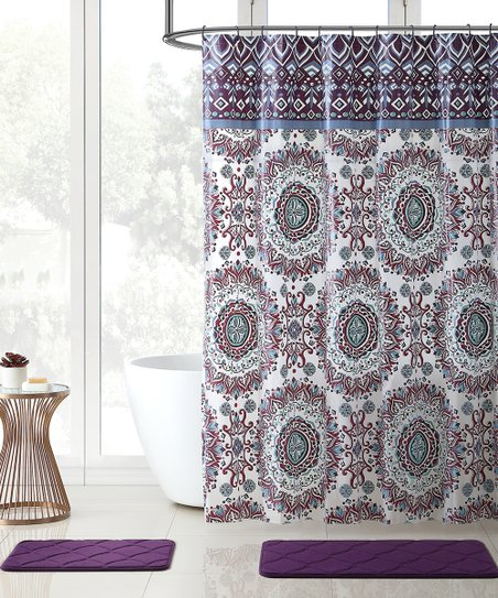 Phoebe Westin 15 Piece Shower Curtain Noodle Rug Set
