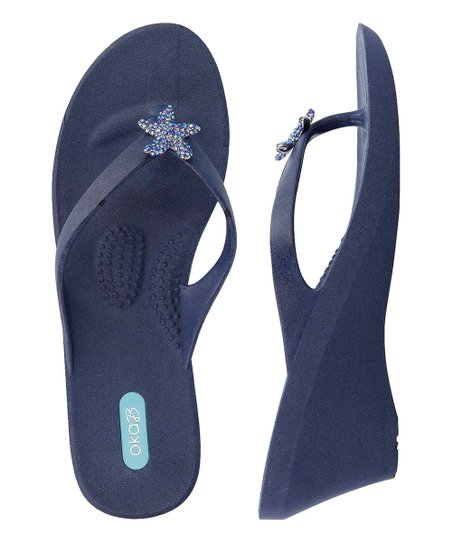 6675834d9560 love this product Navy Estee Wedge Sandal - Women