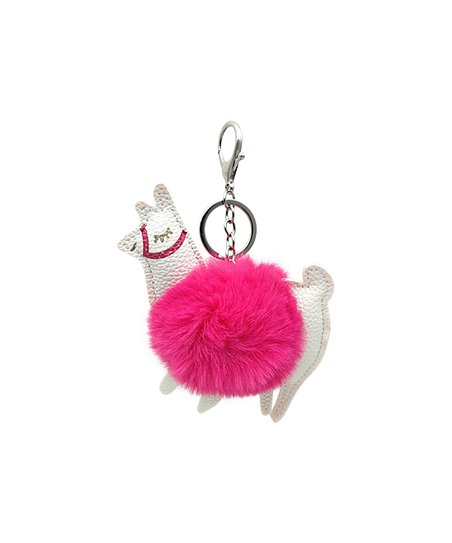love this product Pink Pom-Pom Llama Key Chain 018bcd611a