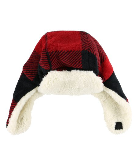 ffd6861e5c612 love this product Red   Black Buffalo Check Trapper Hat