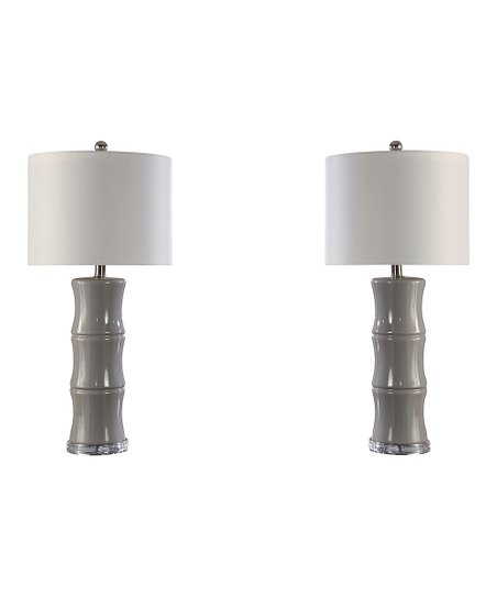 Gray Soley Ceramic Table Lamp Set Of Two Zulily