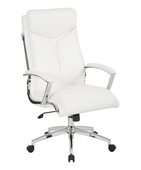 love this product White High-Back Executive Office Chair 7aff08538