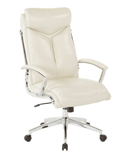 Osp Home Furnishings Cream High Back Executive Office Chair Best Price And Reviews Zulily