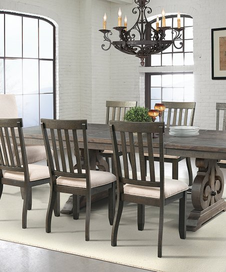 love this product Smoky Walnut Finish Stanford 10-Piece Dining Table Set 1c8949817