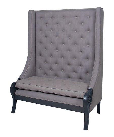 Smoke High-Back Button-Tufted Sofa Bench | Zulily