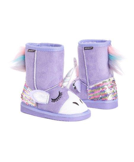 Muk Luks Purple Unicorn Boot - Girls