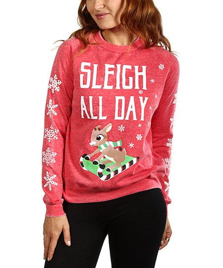 93db6a81c Rudolph the Red-Nosed Reindeer Sweatshirt - Juniors