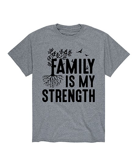 Lc Trendz Mens Athletic Heather Family Is My Strength Tee Zulily
