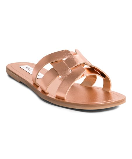 778681cbd8f love this product Rose Gold Sicily Leather Sandal - Women