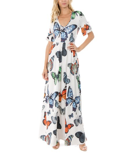 love this product White Butterfly Maxi Dress - Women 039fd3e13b