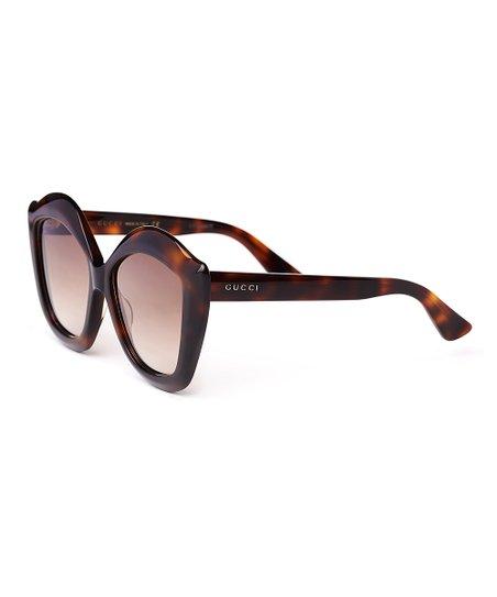 3dfeeeea4d5 Gucci Havana Cat-Eye Sunglasses
