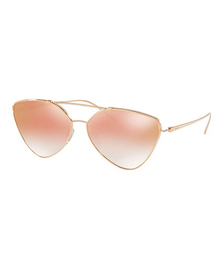 c64554572118c love this product Gold   Pink Gradient Mirror Oversize Sunglasses