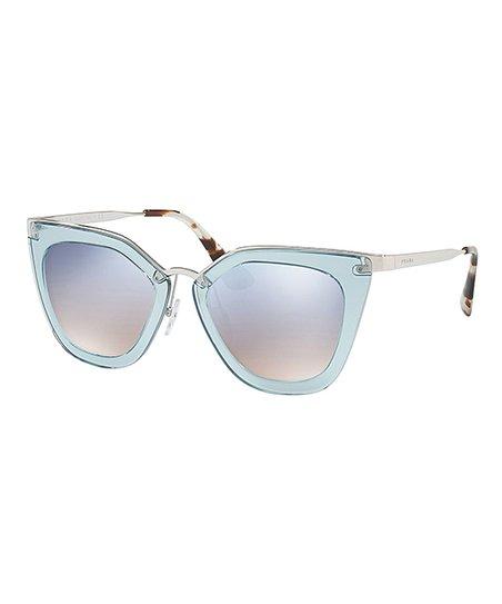 e4a8e2fbd9 Prada Light Blue Gradient Mirror Cat-Eye Sunglasses