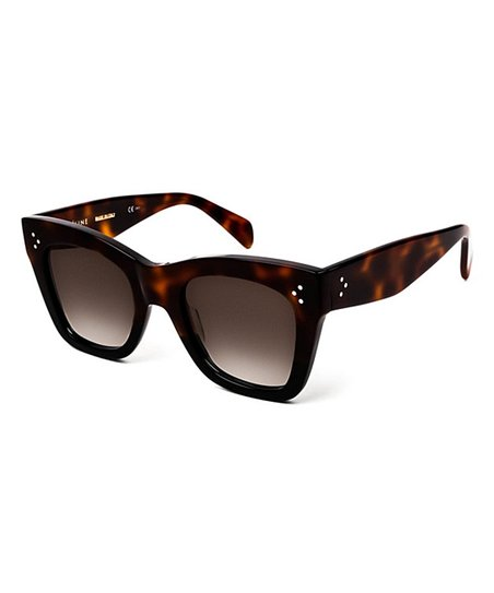 9e3f266a6c8 Celine Havana Black   Brown Square Sunglasses
