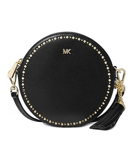 Michael Kors Black Canteen Studded Crossbody Bag  bd7ee6656d5a6
