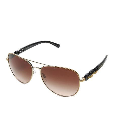 130404b7f1c3 Michael Kors Black & Rose Pandora Aviator Sunglasses   Zulily