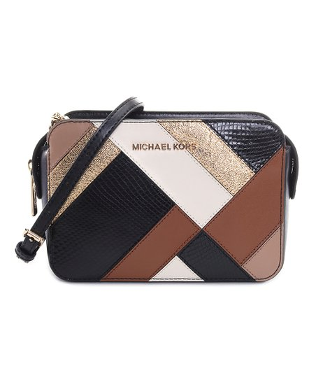 Michael Kors Black   Brown Stripe Adele Crossbody Bag  ef4edeafb3ec4