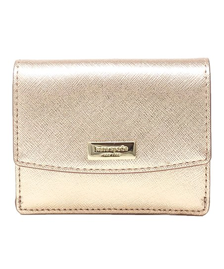 0413c2e2270 love this product Rose Gold 14k Gold-Plated Laurel Way Petty Leather Wallet