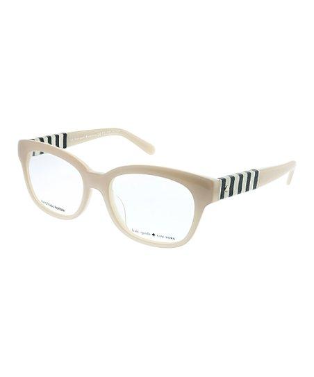 2c36c398e6d Kate Spade Cream Stripe Rectangle Eyeglasses